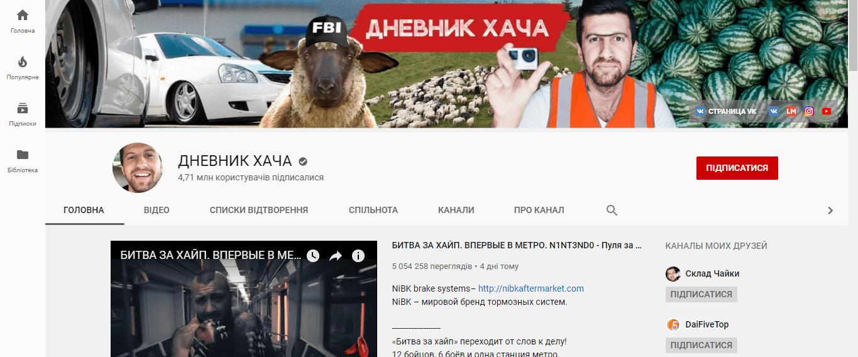 Аміран Сардаров, канал «Щоденник Хача»: Шоу починається!